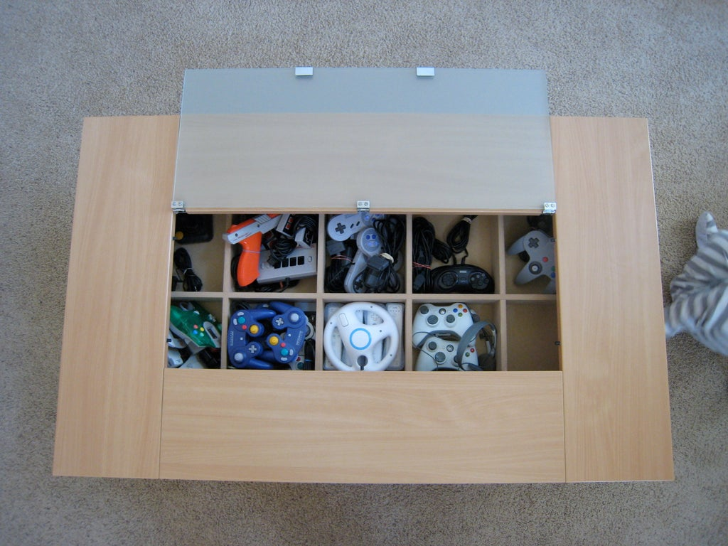 Gaming Coffee Table.Aesthetically Pleasing Gaming Coffee Table 8 Steps With Pictures