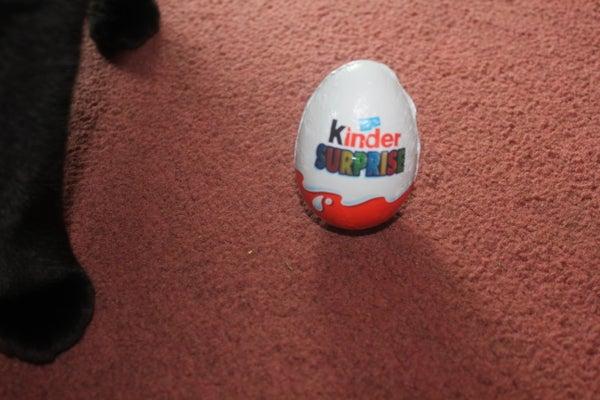 Make an Easter Egg Kitty Treat Dispenser.