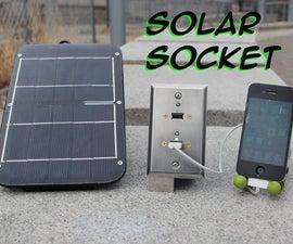 Emergency USB Solar Wall Socket: Solar Socket