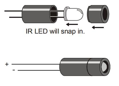 Assembling IR LED's