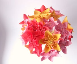 How to Make an Origami Flower Bouquet Easily (with Straws and Paper)