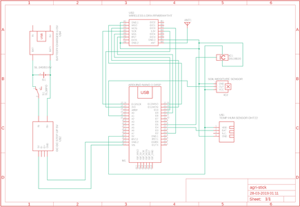 CIRCUIT IN EAGLE PCB FOR AGRI STICK