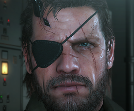 Punished Snake Style Leather Eyepatch