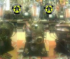Steampunk inspried Skull Lamp