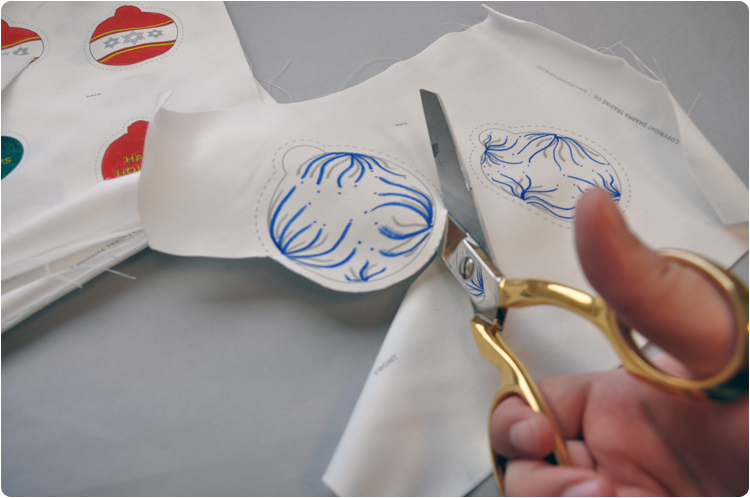 Picture of Cut and Sew Your Ornaments.