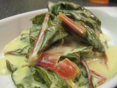 Potted Creamy Blue Cheese Swiss Chard