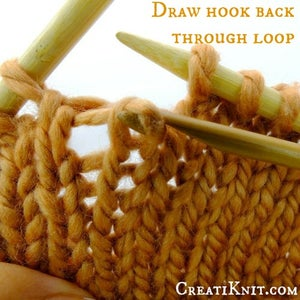 Draw Your Hook and Horizontal Strand Back Through the Loop, Towards You
