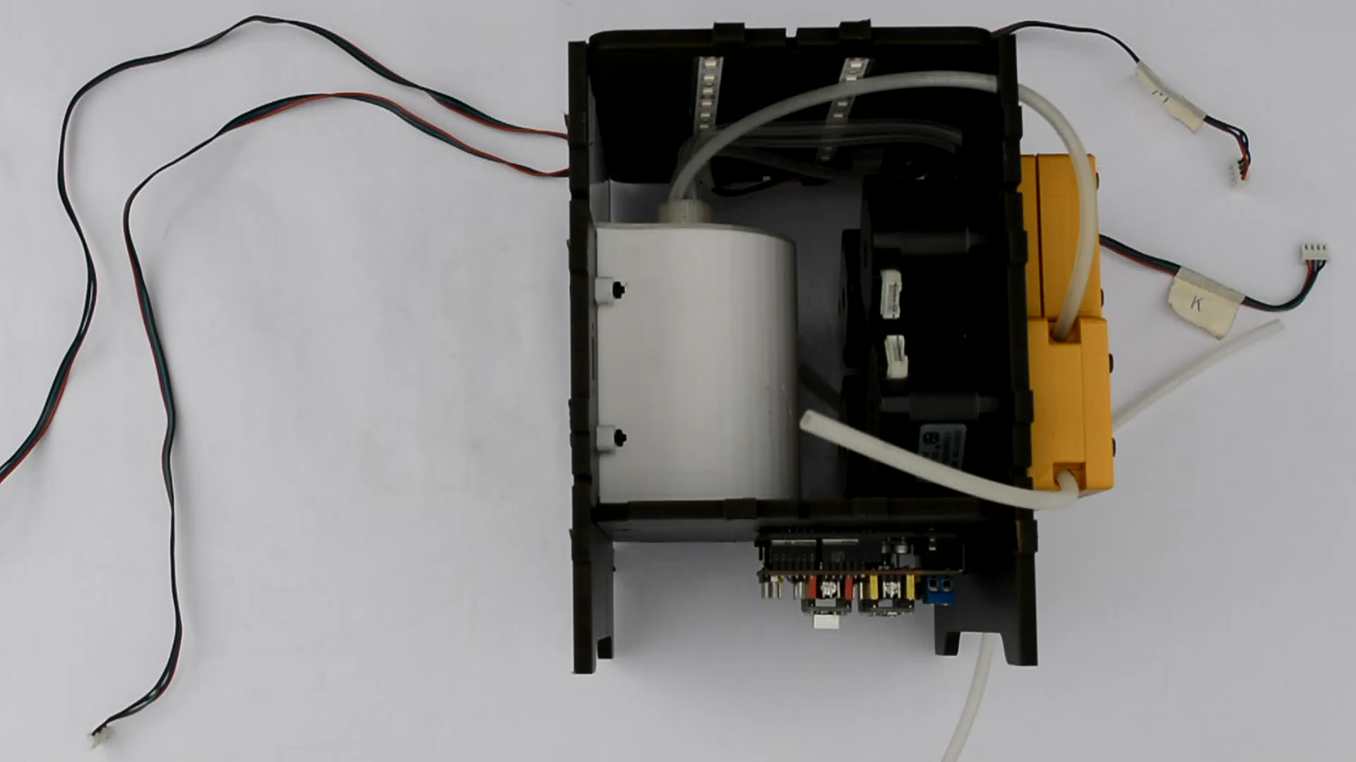 Picture of Assemble the Motor Wires and the Side Panels