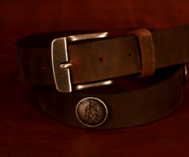Adding a Buckle and Conchos to a Leather Belt Blank