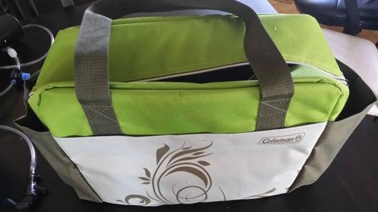 Secure CO2 Tank in Cooler Bag