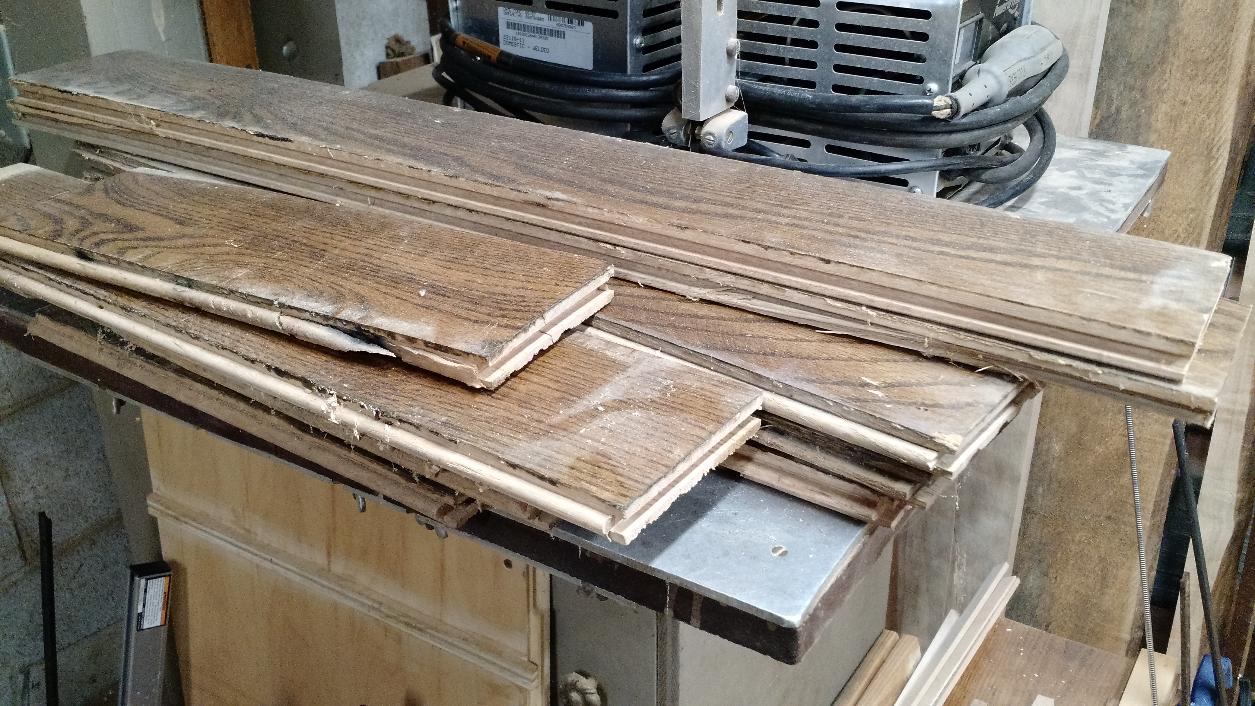 Picture of Lots of Old Oak Flooring