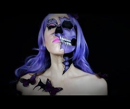 Butterfly Skull Makeup