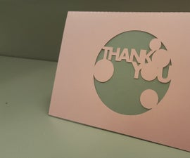 Silhouette Cameo Thank You Card