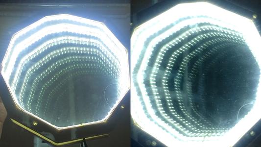 Experiments - 2 Partial Mirrors and a Regular Mirror + Movements