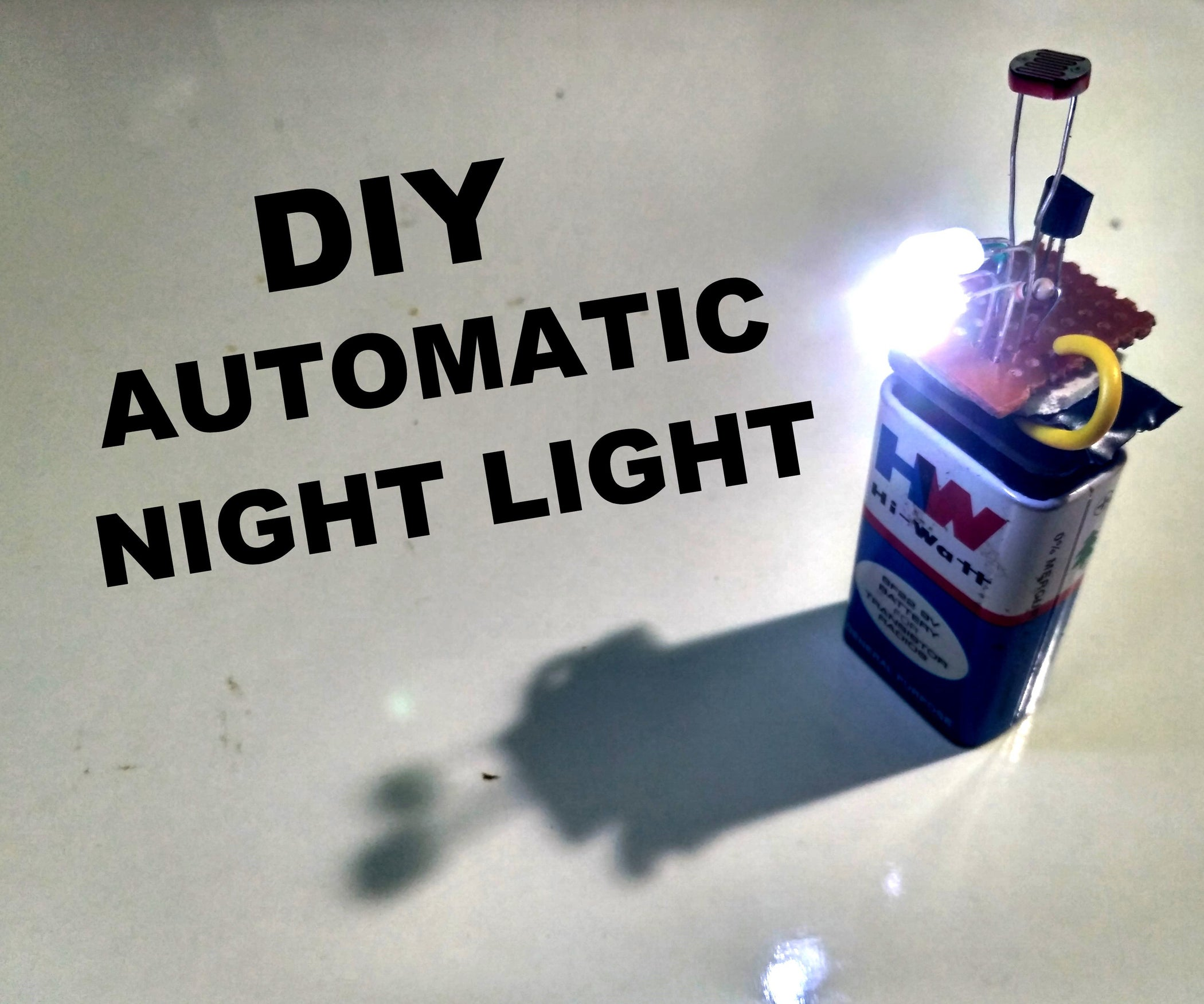 How to Make an Automatic Night Light: 3 Steps (with Pictures)