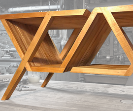 Slat-Built Modern Coffee Table (w/ Additive Joinery)