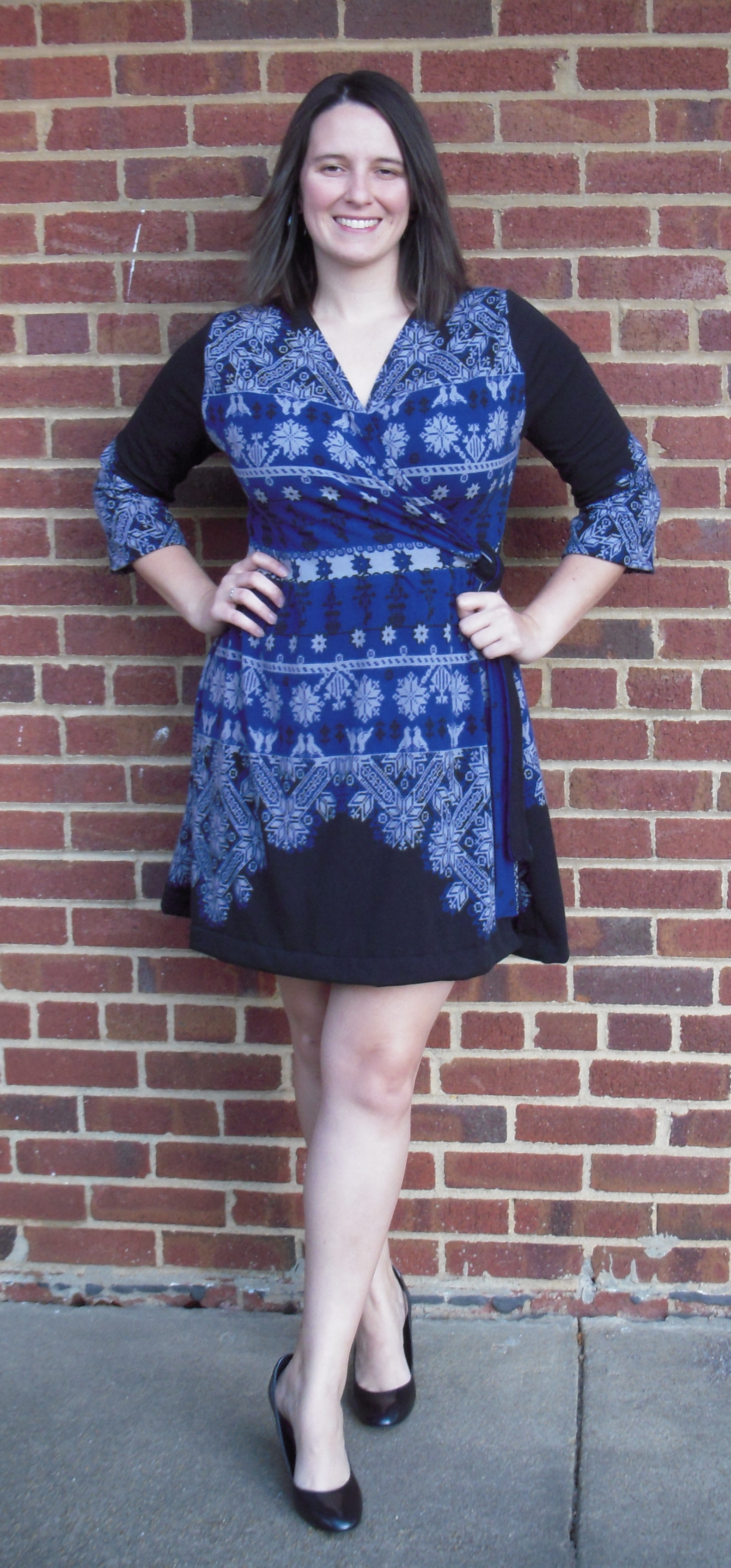 Picture of Custom Fitted Winter Wrap Dress