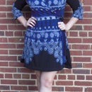 Custom Fitted Winter Wrap Dress