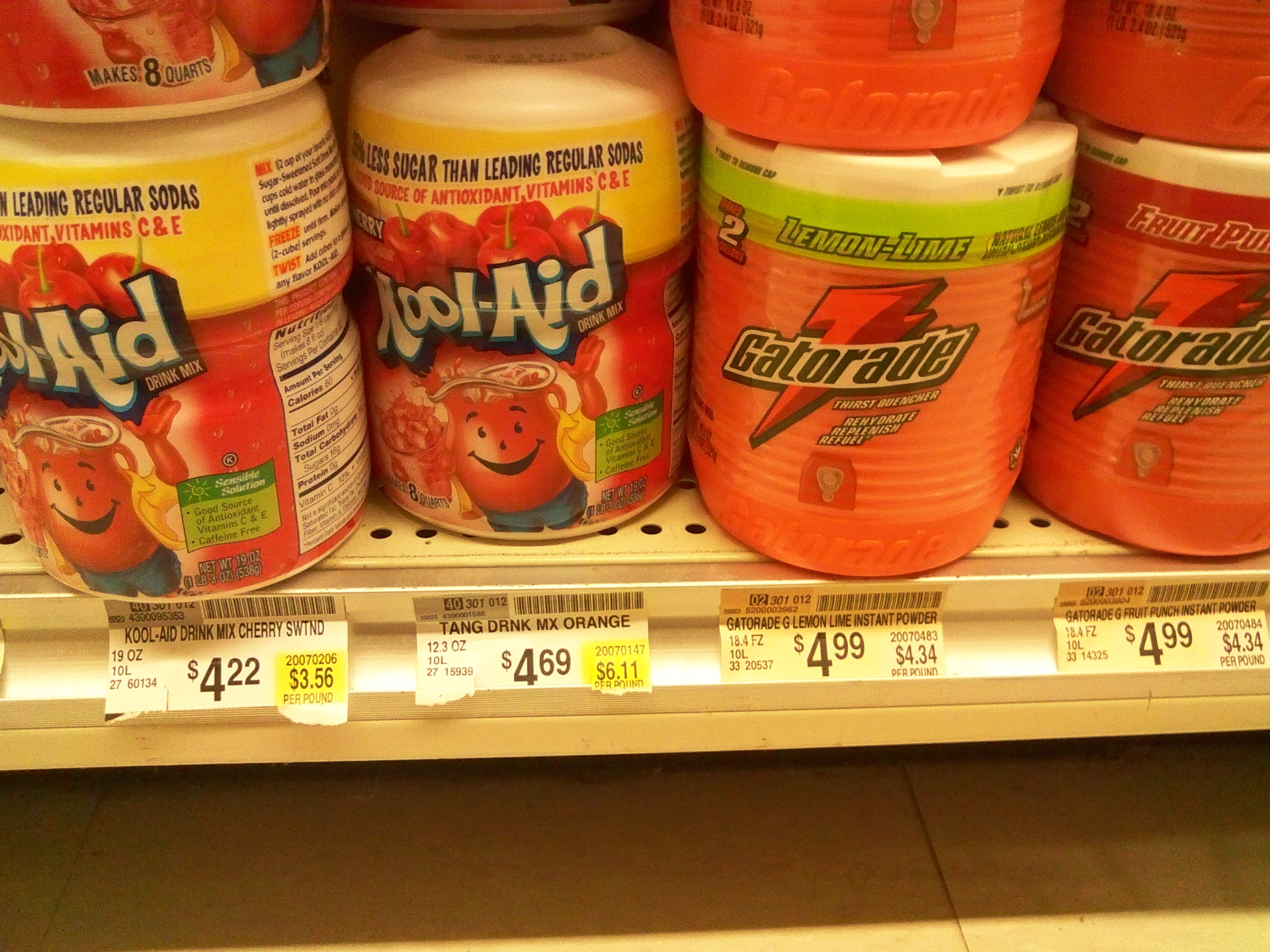 Picture of Gatorade From Powder: $2.50 / Gal