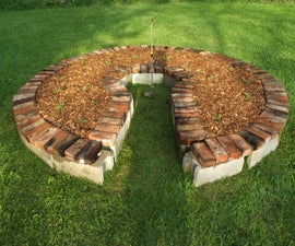 keyhole garden using reclaimed materials