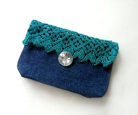DIY Jeans and Lace Purse
