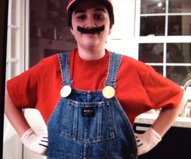 HOW TO MAKE A A LAST MINUTE MARIO COSTUME