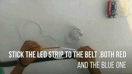 PUT ON THE LED STRIPS FOLLOWING THE PROVIDED STEPS