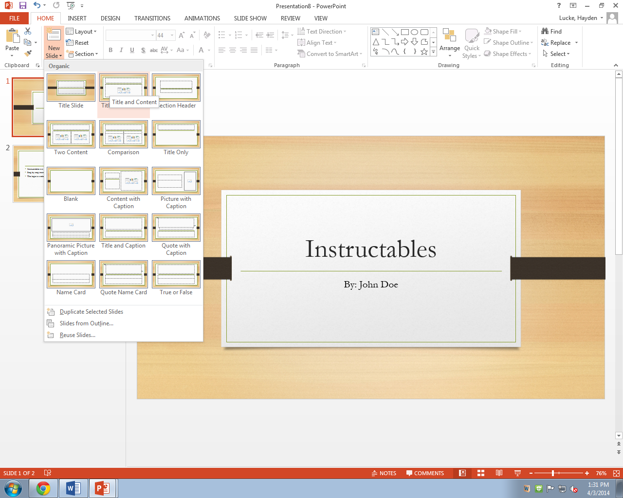 Picture of Type Bullets of Your Notes Into PowerPoint