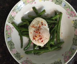 Poached Egg With French Beans