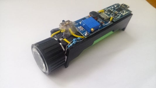 Rechargeable LED Light / Torch From Old LiIon Battery