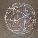Make a geodesic sphere out of plastic straws