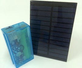 Solar Power Bank with salvaged 18650