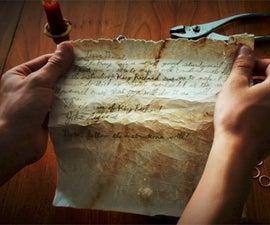 Antiquing Paper