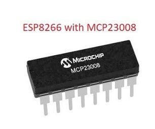 NODEMCU LUA ESP8266 With MCP23008 8 Bit Port Expander IC