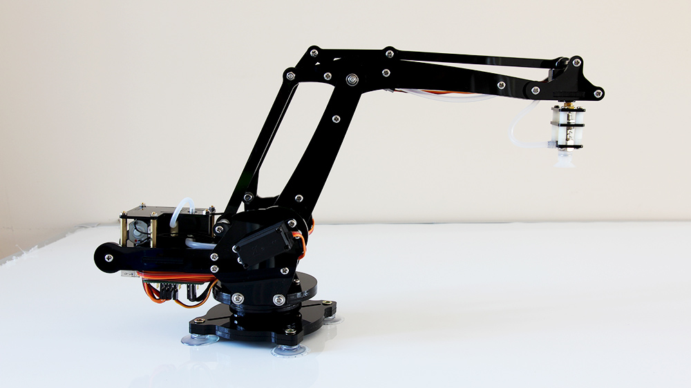 Picture of An Arduino-powered 4-axis Parallel-mechanism Robot Arm