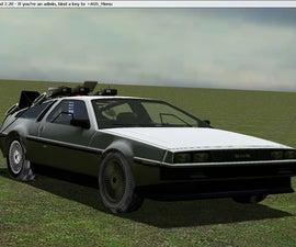 Delorean Time Machine in Garry's Mod
