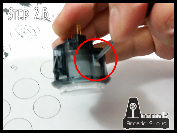 Picture of Disassemble the Buttons - Sanwa