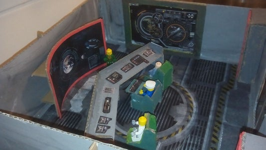 Cardboard Sci-Fi Action Playset for LEGO