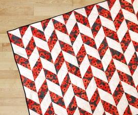 Easy 1/2 Block Quilt for Beginners