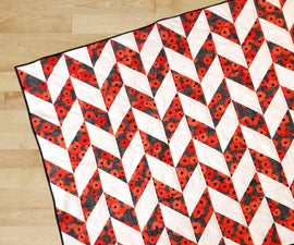 Easy 1/2 Block Quilt for Beginners