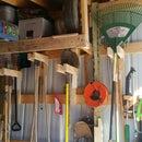 Long Handle Tool Storage Rack