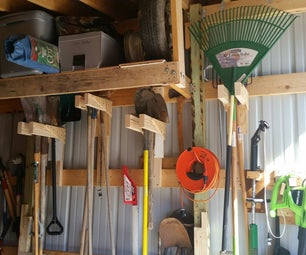 Long Handle Tool Storage Rack