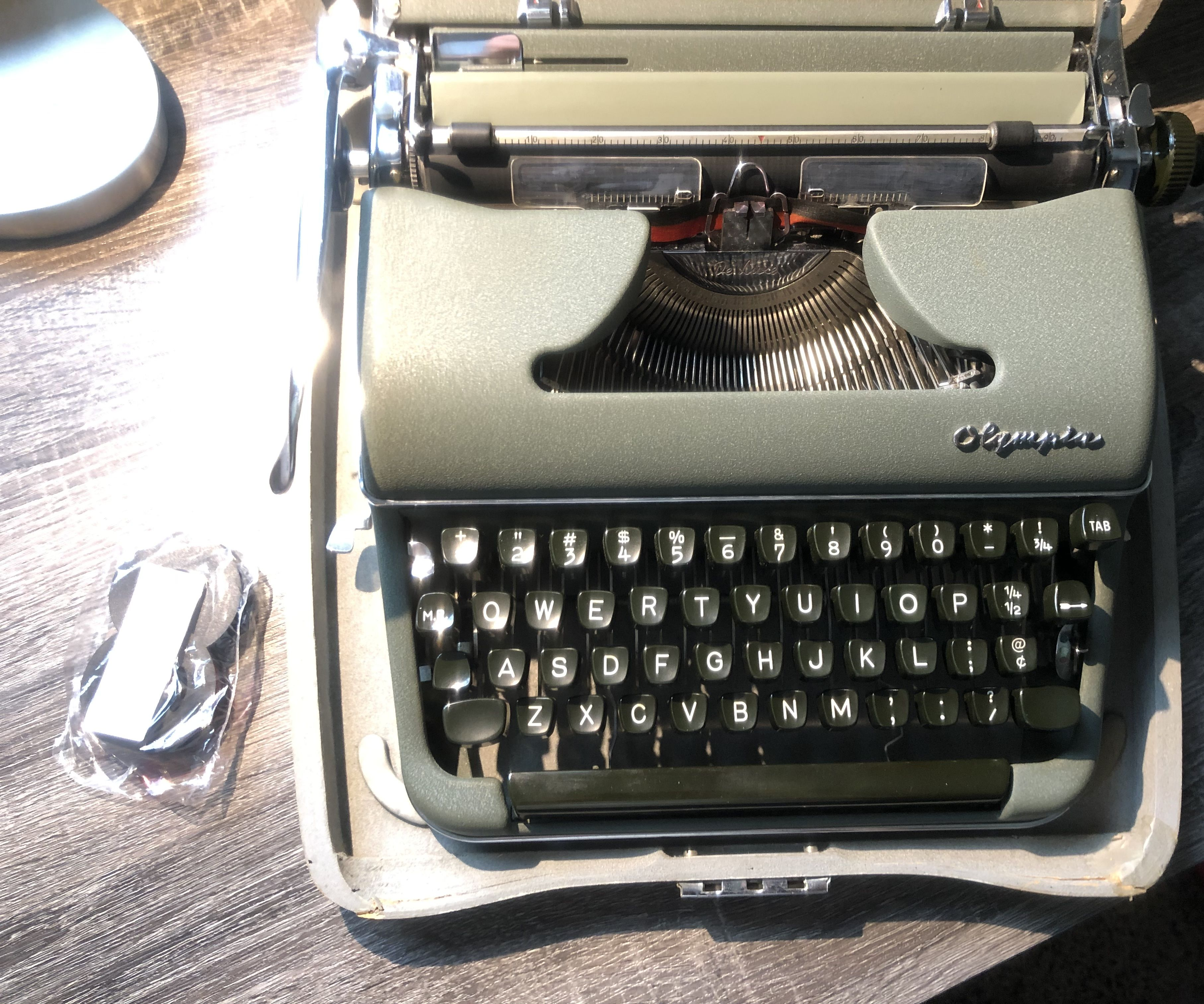 Mercedes Typewriter Ink Ribbon Spool Standard Portable Electric Black Red