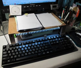 Low cost pupitre with LED lighting keyboard