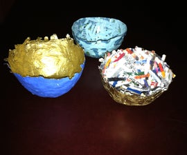 Decorative bowls from recycled paper