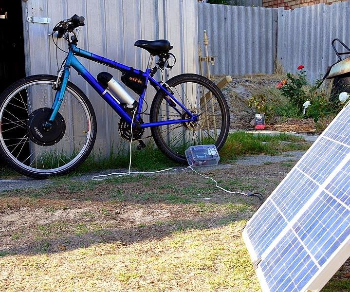Charge Electric Bike Battery With Solar Panel: 5 Steps