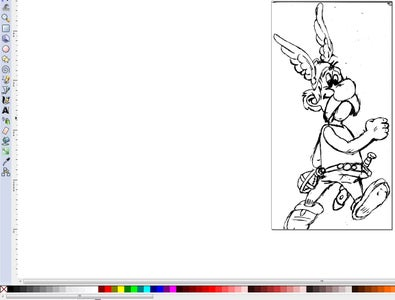 Open Sketch File and Generate Vector Drawing