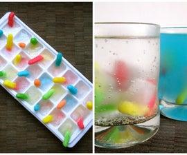 gummy worm ice cubes