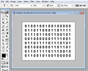 Copy the Binary Into a Graphics Package an Play Around a Little