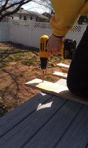 Drill Holes in Your Side Boards.